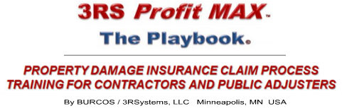 Roof Storm Damage Insurance Claims Training Logo