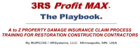 Roofing/Siding contractor wind and hail damage insurance claim process training Logo